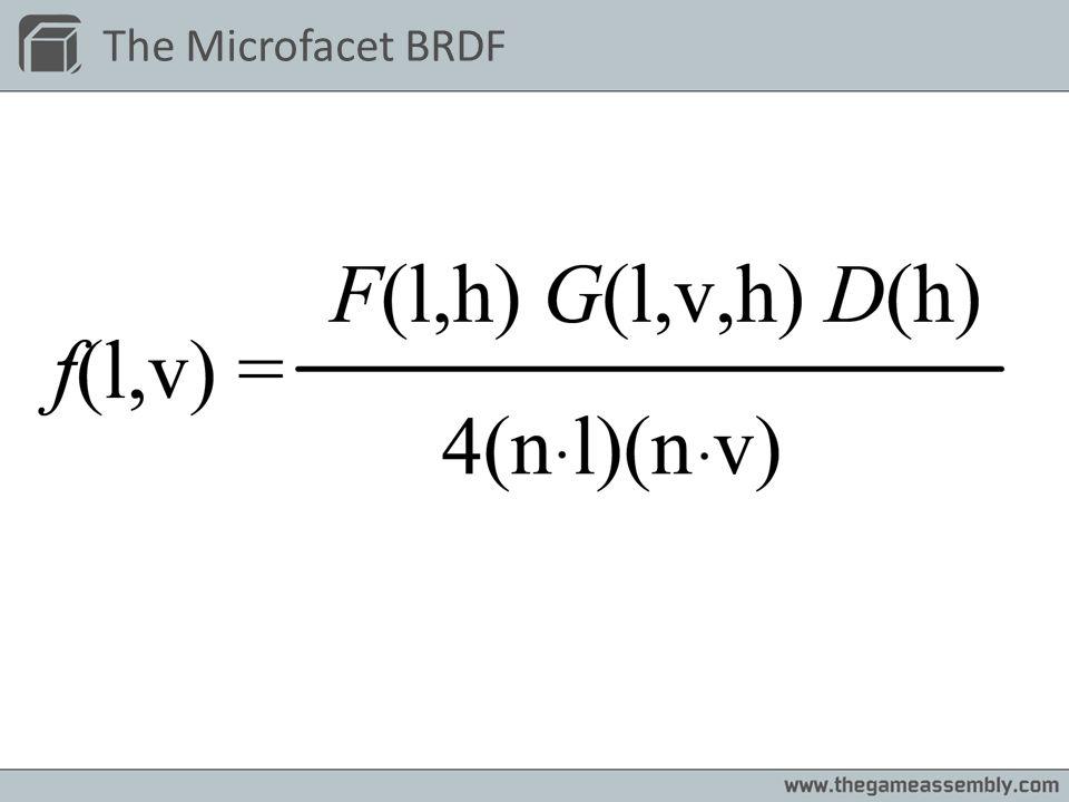 The Microfacet BRDF