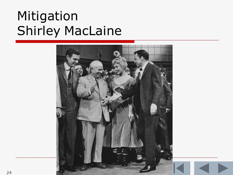 Mitigation Shirley MacLaine 24