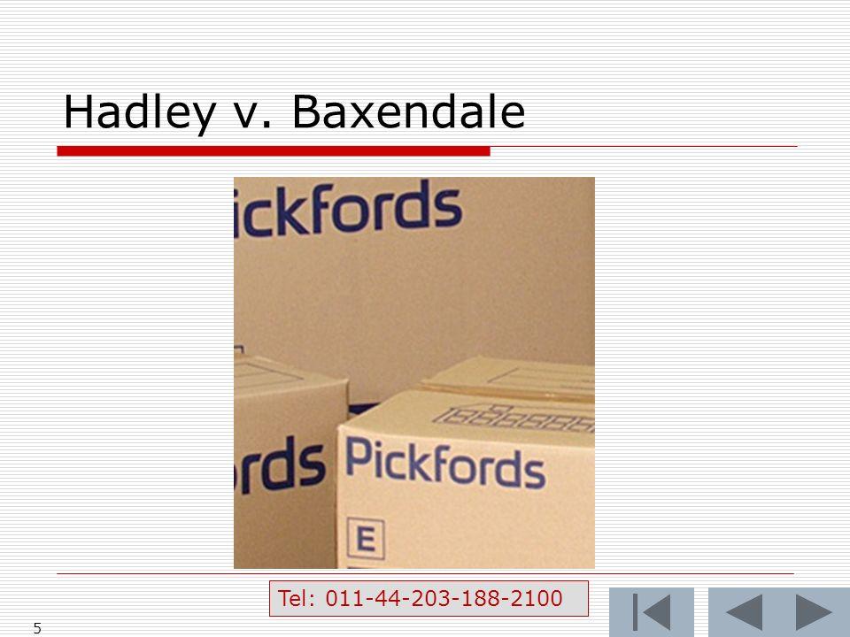 Hadley v. Baxendale 5 Tel: 011-44-203-188-2100
