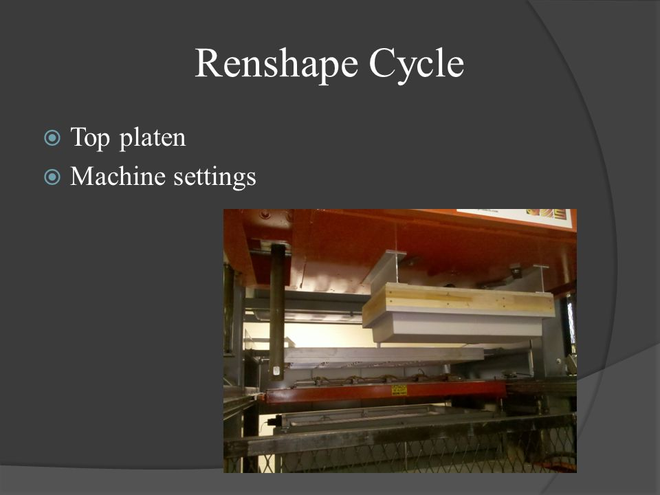 Top platen Machine settings