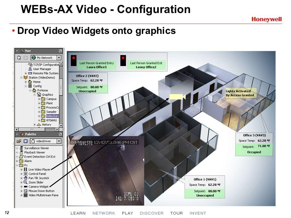 12 WEBs-AX Video - Configuration Drop Video Widgets onto graphics