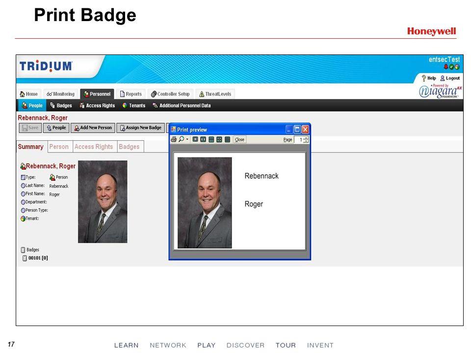 17 Print Badge