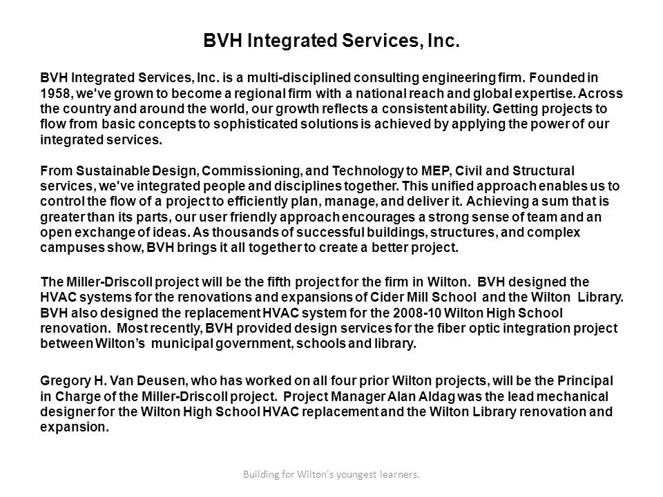 BVH Integrated Services, Inc. BVH Integrated Services, Inc.