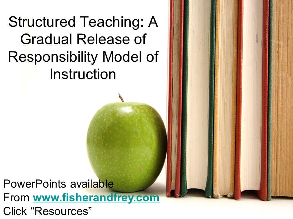 Nancy Frey, Ph.D. San Diego State University nfrey@mail.sdsu.edu Structured Teaching: A Gradual Release of Responsibility Model of Instruction PowerPo