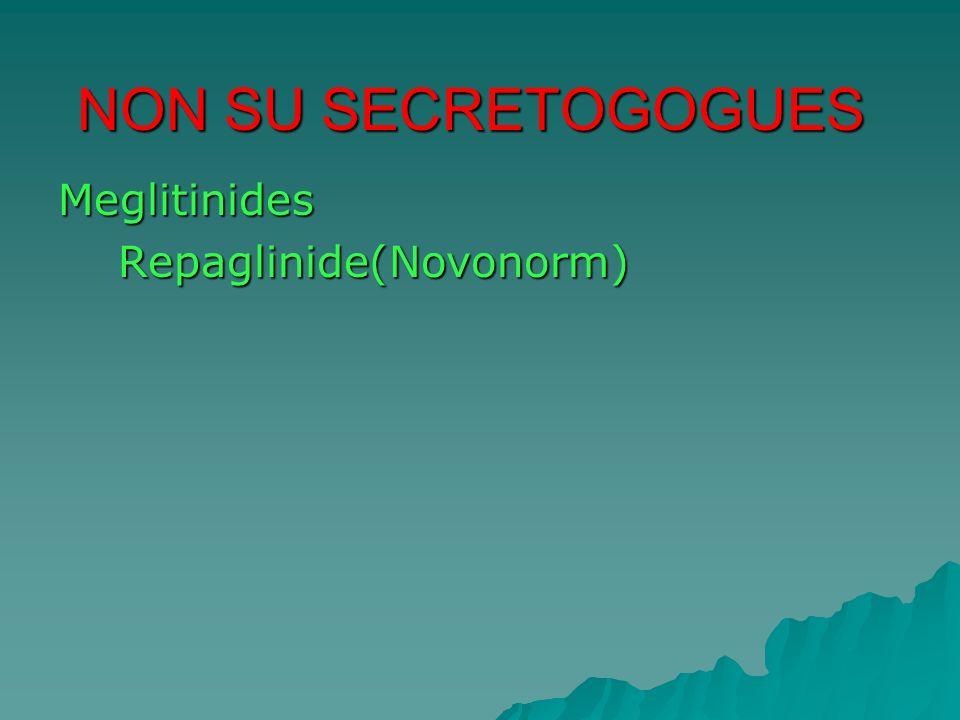 Meglitinides Repaglinide(Novonorm) Repaglinide(Novonorm) NON SU SECRETOGOGUES