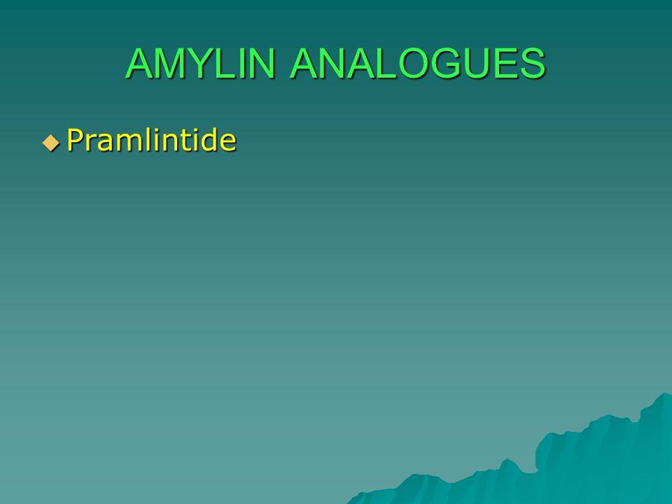 AMYLIN ANALOGUES Pramlintide Pramlintide