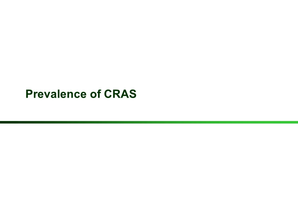 Prevalence of CRAS