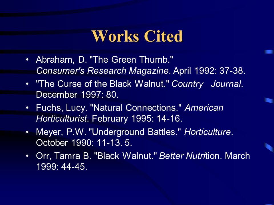 Works Cited Abraham, D.