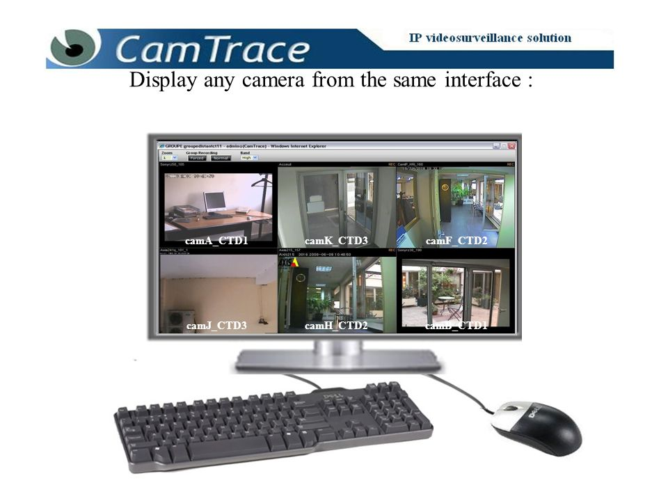 Display any camera from the same interface : camA_CTD1 camJ_CTD3 camF_CTD2 camB_CTD1camH_CTD2 camK_CTD3