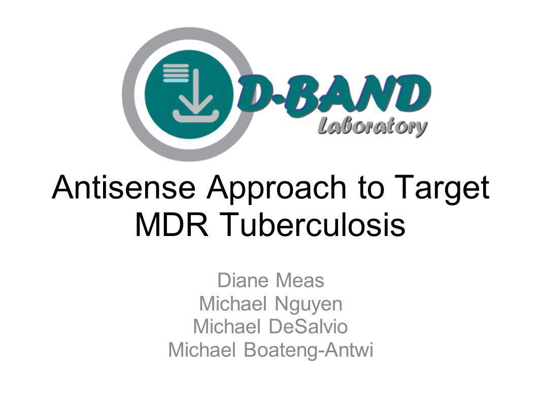 Antisense Approach to Target MDR Tuberculosis Diane Meas Michael Nguyen Michael DeSalvio Michael Boateng-Antwi
