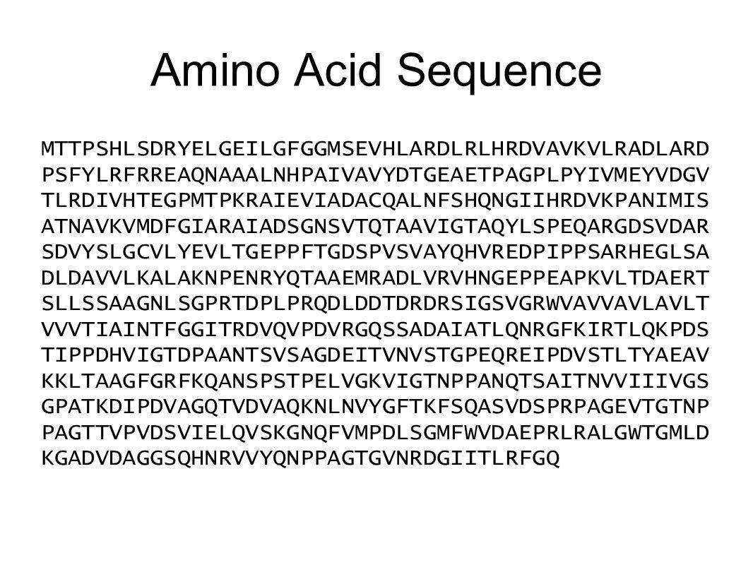 Amino Acid Sequence MTTPSHLSDRYELGEILGFGGMSEVHLARDLRLHRDVAVKVLRADLARD PSFYLRFRREAQNAAALNHPAIVAVYDTGEAETPAGPLPYIVMEYVDGV TLRDIVHTEGPMTPKRAIEVIADACQALNF