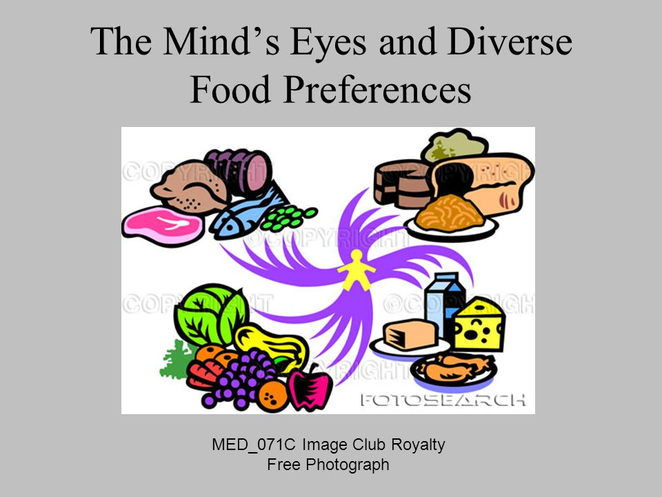 The Minds Eyes and Diverse Food Preferences MED_071C Image Club Royalty Free Photograph