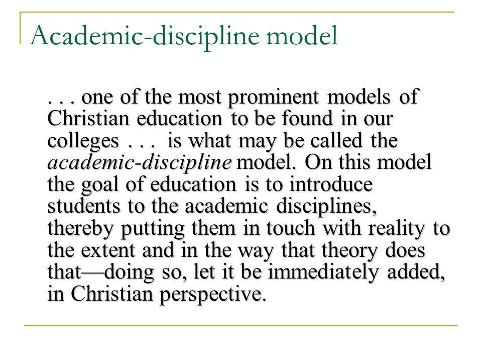 Academic-discipline model...