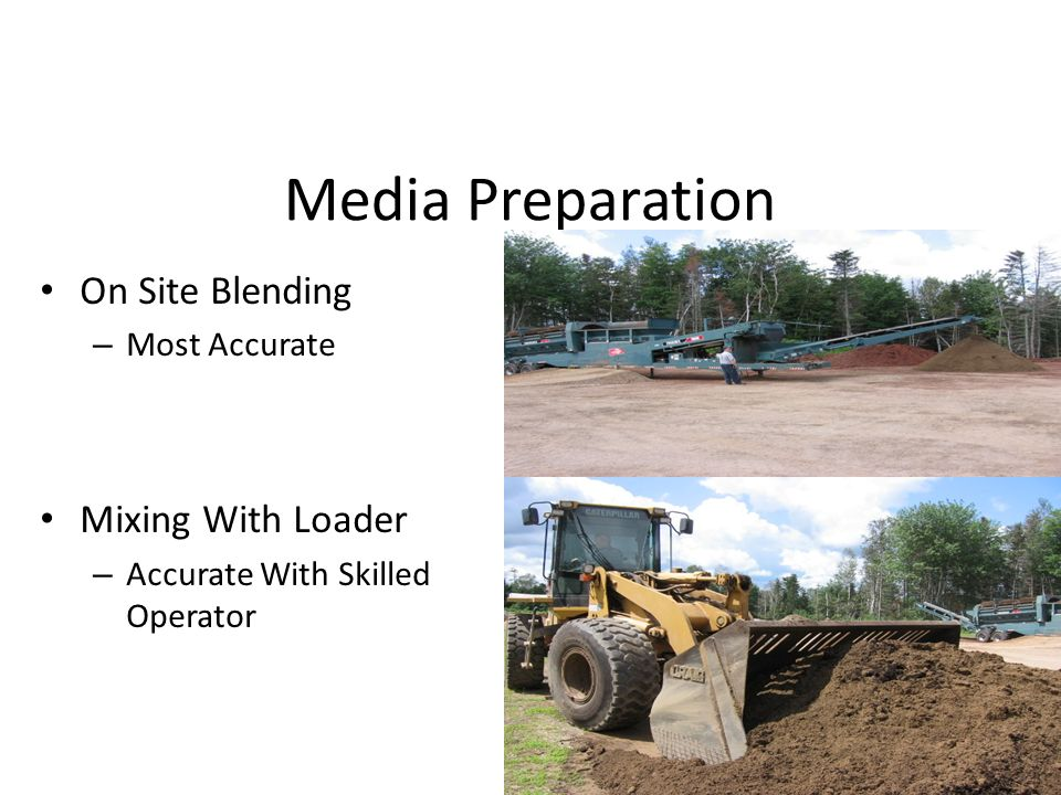 Media Preparation On Site Blending – Most Accurate Mixing With Loader – Accurate With Skilled Operator