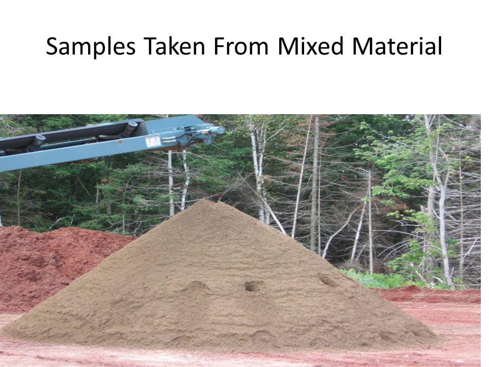 Samples Taken From Mixed Material