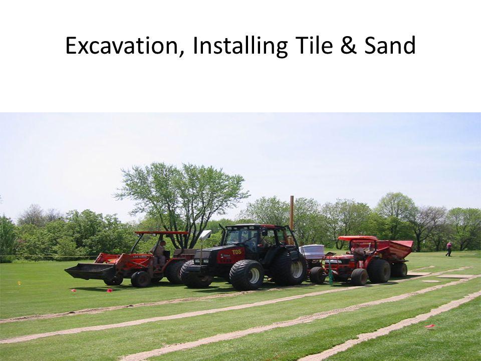 Excavation, Installing Tile & Sand