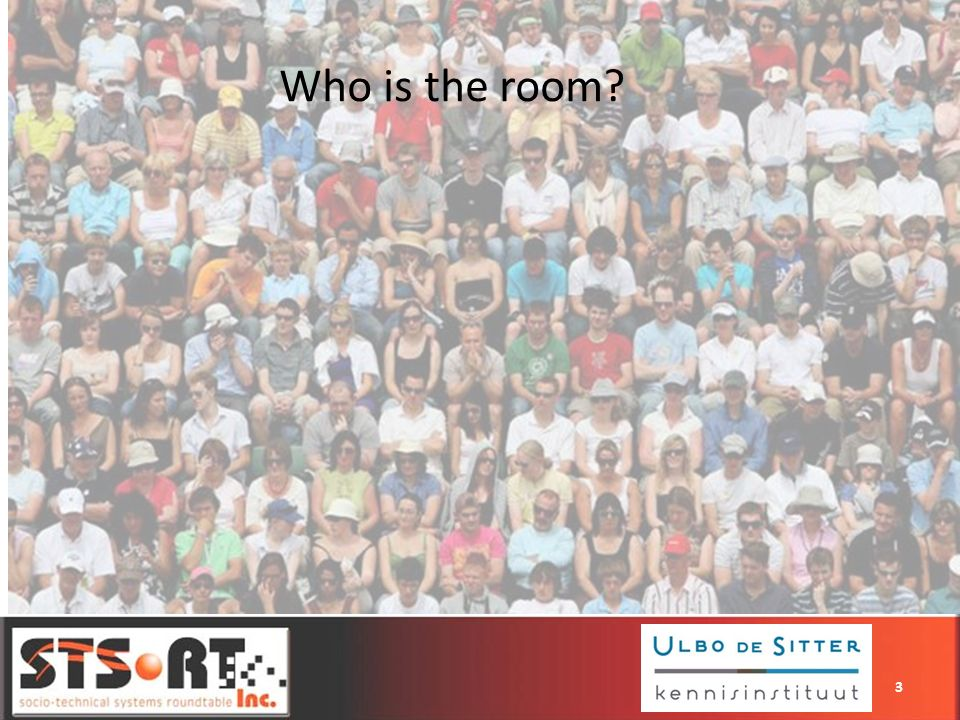 Who is the room? 3
