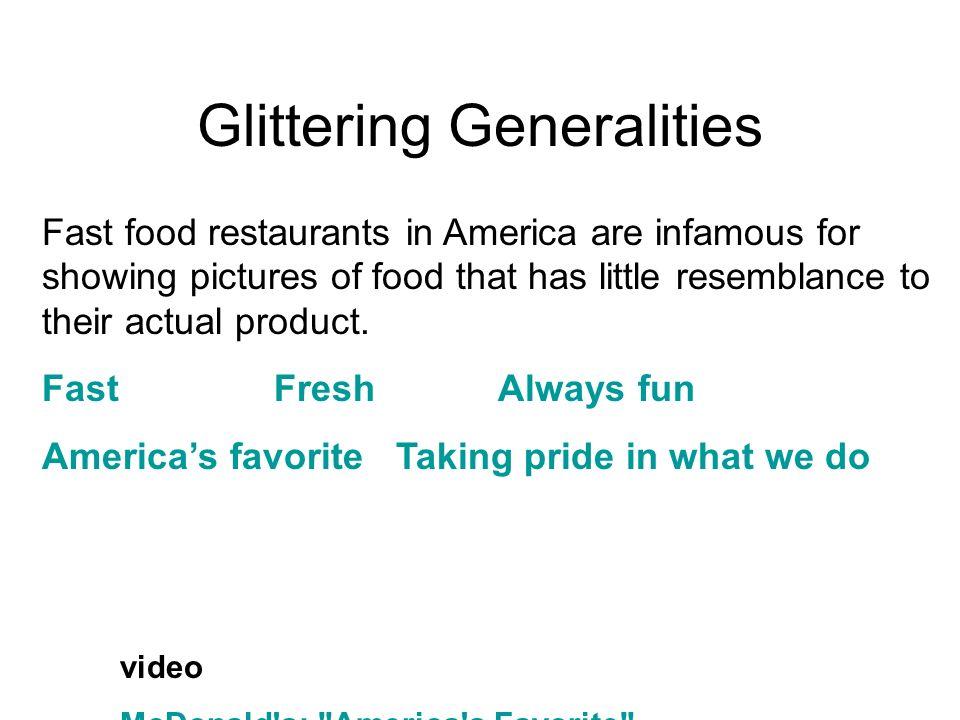 Glittering Generalities video McDonald's: