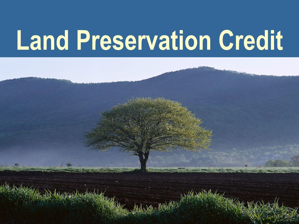 Land Preservation Credit