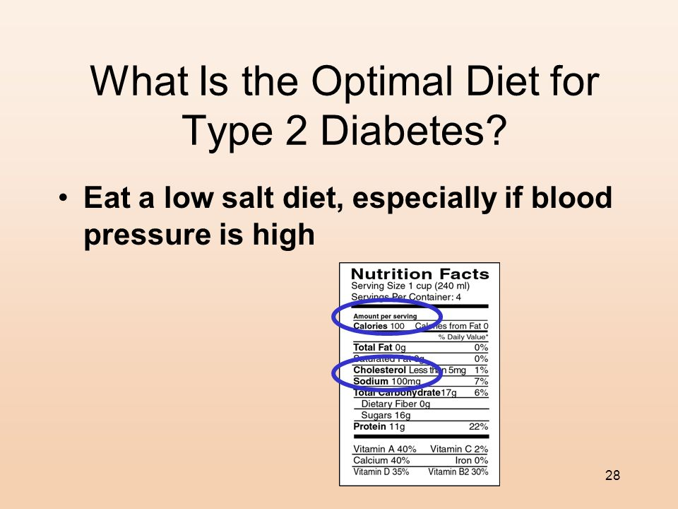 27 What Is the Optimal Diet for Type 2 Diabetes? Limit foods that are high in refined carbohydrates