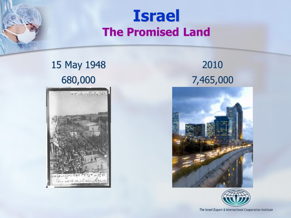 Israel The Promised Land 15 May 1948 680,00020107,465,000