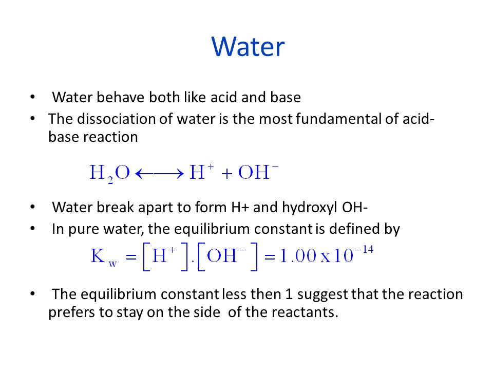 Definition of ACID and BASE Arrhenius Acid: generate [H + ] in solution Base: generate [OH - ] in solution Normal Arrhenius equation: acid + base salt + water Example: HCl + NaOH NaCl + H 2 O Lewis Acid: Accept an electron pair Base: Donate an electron pair The advantage of this theory is that many more reaction can be considered acid-base reaction as they do not have to occur in solution