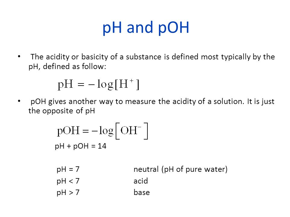 Salt A salt is formed when acid reacts with base Acid releases H + while base releases OH - Hydrolysis pH of the salt depends on the strengths of the original acids and bases Conjugate of a strong acid is very weak and cannot undergo hydrolysis and vice versa for conjugate of strong base acidBaseSalt pH Strong pH = 7 WeakStrongpH > 7 StrongWeakpH < 7 Weak Depends on which is stronger