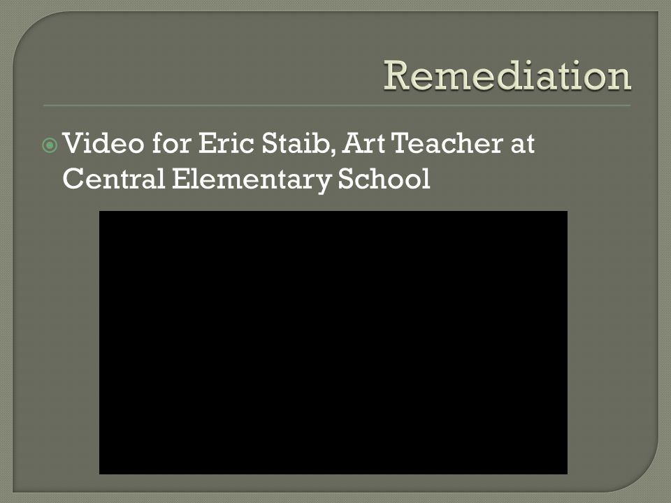 Video for Eric Staib, Art Teacher at Central Elementary School