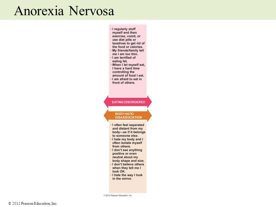 © 2012 Pearson Education, Inc. Anorexia Nervosa