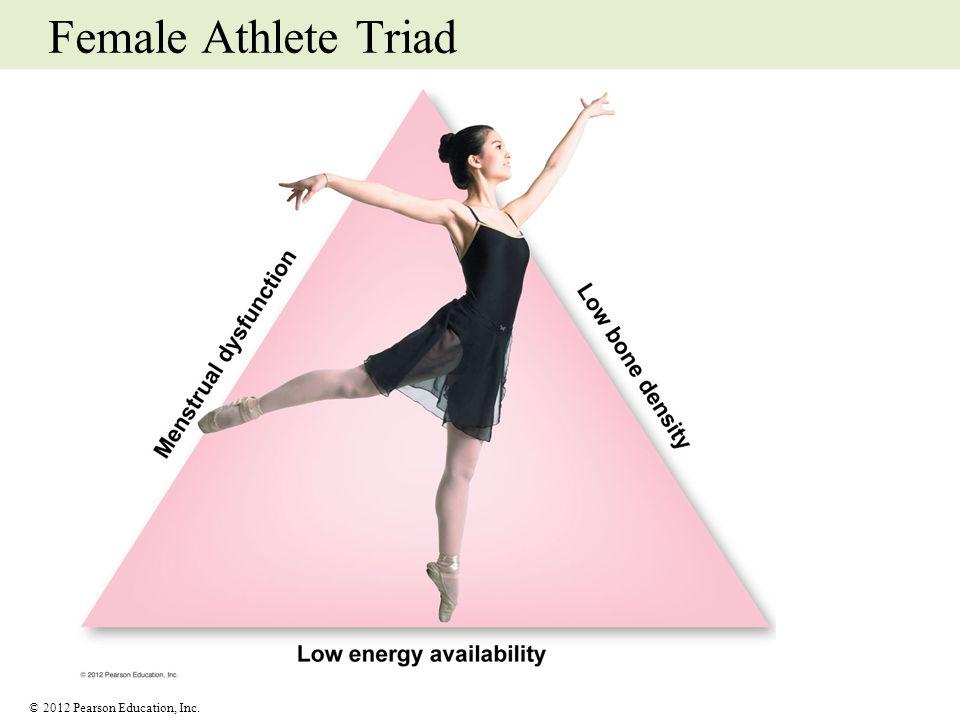© 2012 Pearson Education, Inc. Female Athlete Triad
