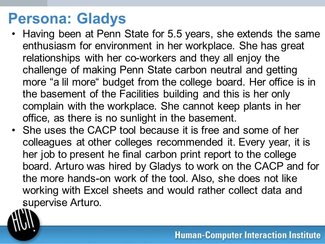 Having been at Penn State for 5.5 years, she extends the same enthusiasm for environment in her workplace. She has great relationships with her co-wor