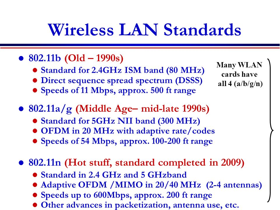 Wide Area Networks: The Internet Many LANs and MANs bridged together Universal protocol: TCP/IP (packet based).