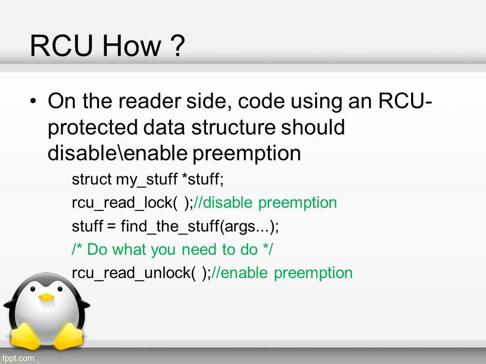 RCU How Cont.