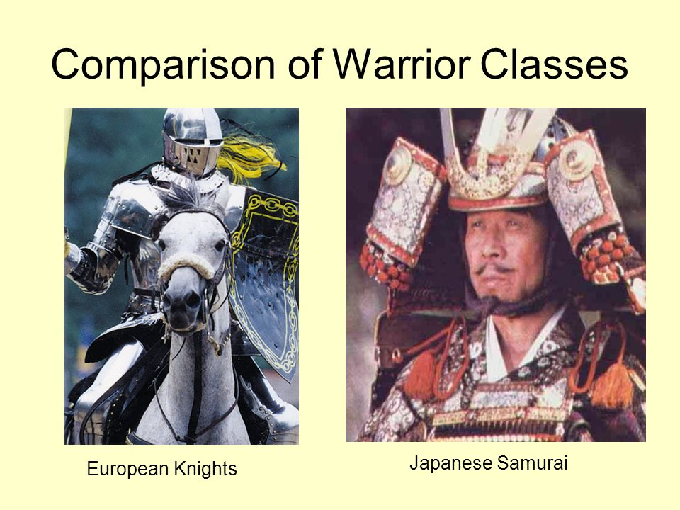Comparison of Warrior Classes European Knights Japanese Samurai