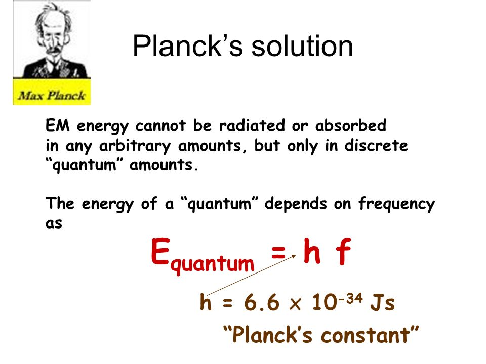 Classical vs Quantum world In everyday life, quantum effects can be safely ignored At atomic & subatomic scales, quantum effects are dominant & must be considered This is because Plancks constant is so small Laws of nature developed without consideration of quantum effects do not work for atoms