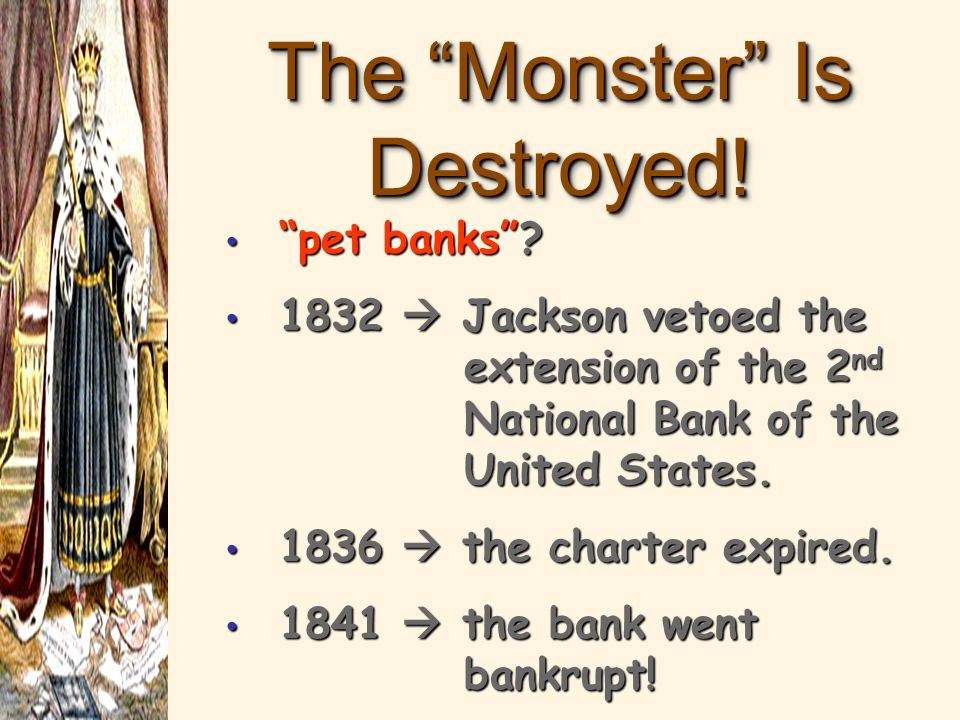 Opposition to the 2 nd B.U.S. Soft (paper) $ Hard (specie) $ state bankers felt it restrained their banks from issuing bank notes freely. supported ra