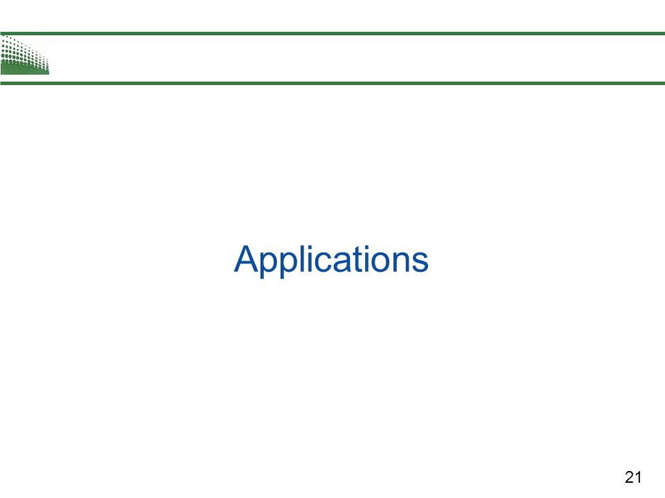 21 Applications