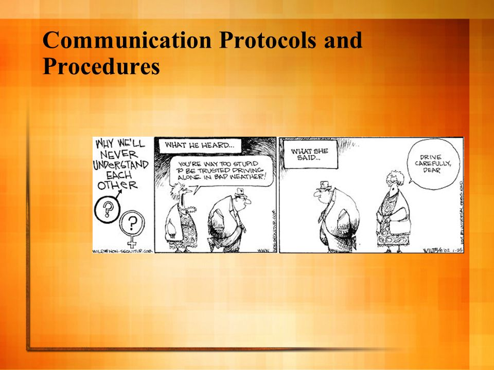 Communication Protocols and Procedures