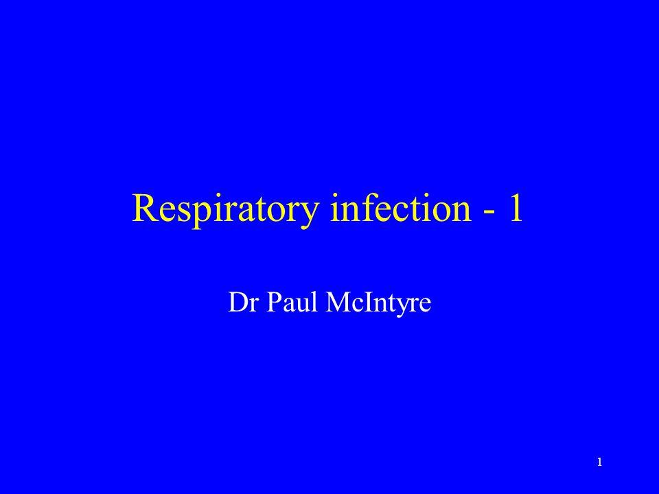 32 Current Respiratory tests Samples for PCR: Throat swabs in viral transport medium, bronchoalveolar lavage (BAL), endotracheal aspirate etc –Flu A, Flu B, parainfluenza 1-3, metapneumo, adeno, RSV
