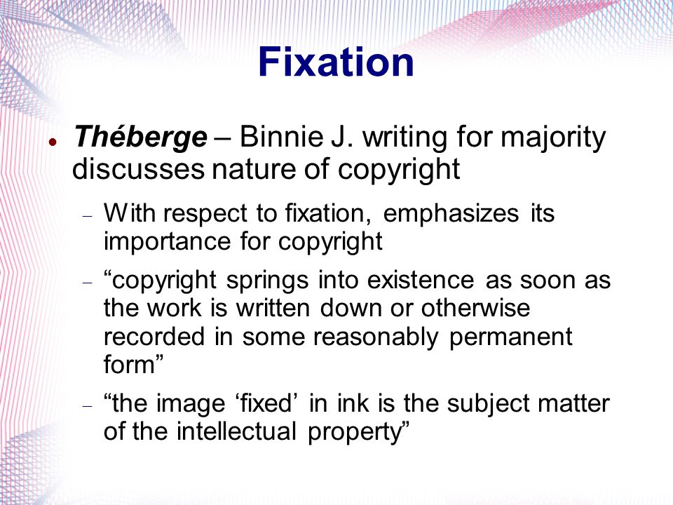 Fixation Théberge – Binnie J.