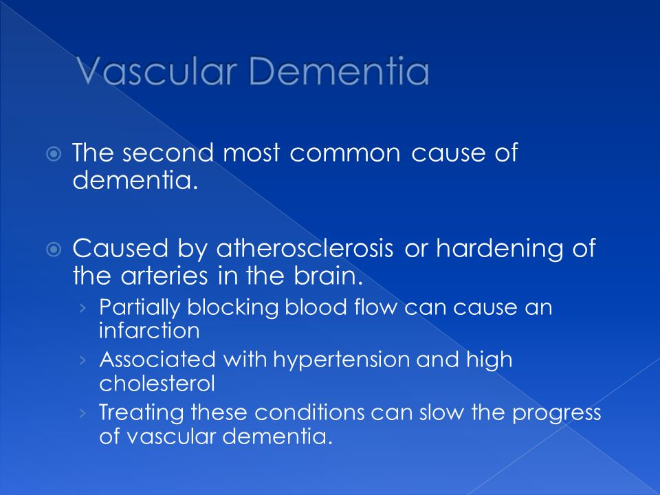 The second most common cause of dementia.