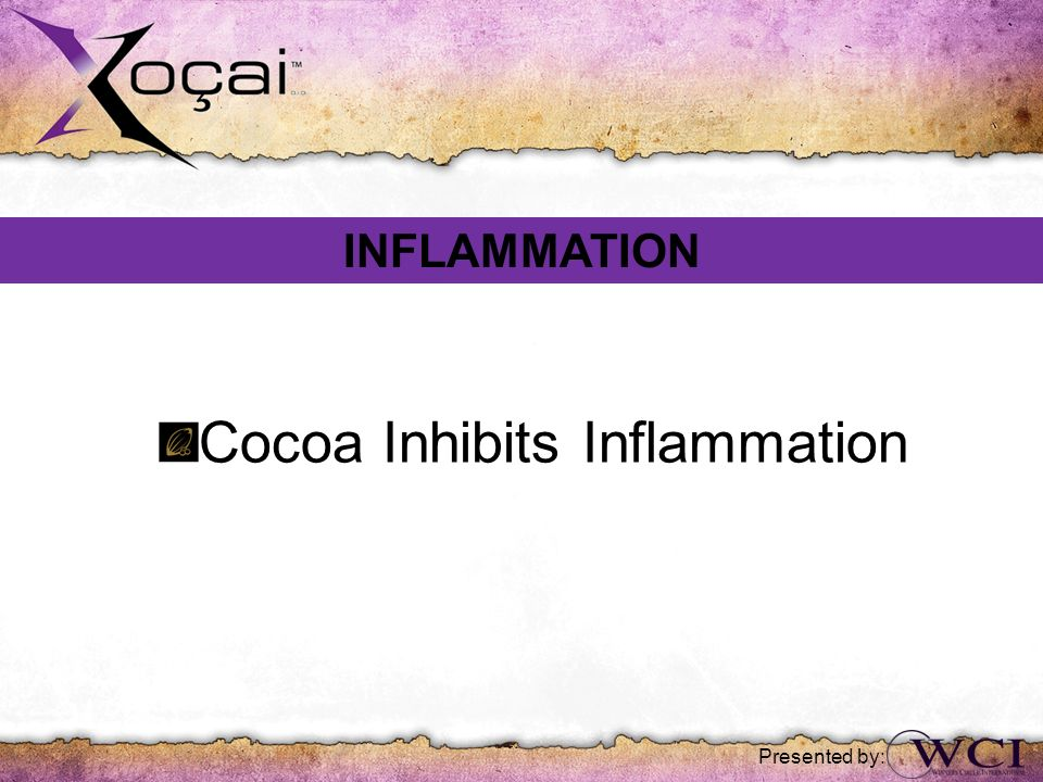 Presented by: Cocoa Inhibits Inflammation INFLAMMATION