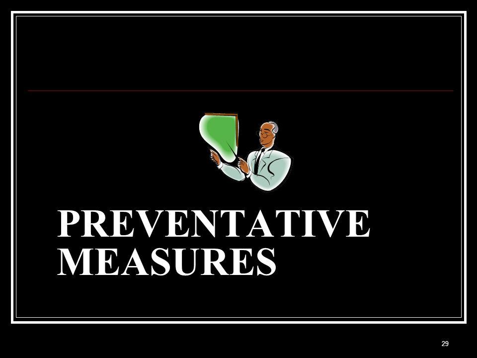 29 PREVENTATIVE MEASURES