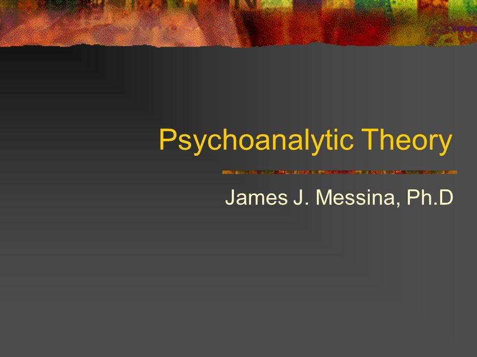 Psychoanalytic Theory James J. Messina, Ph.D