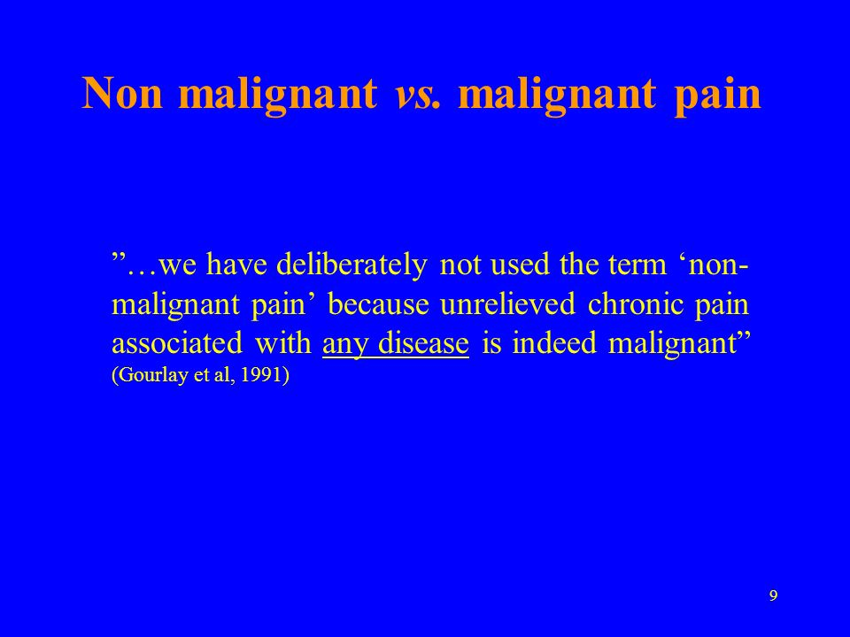 Investments in pain palliation 1 1 Chappell AS, et al, Pain 146;253-60:2009