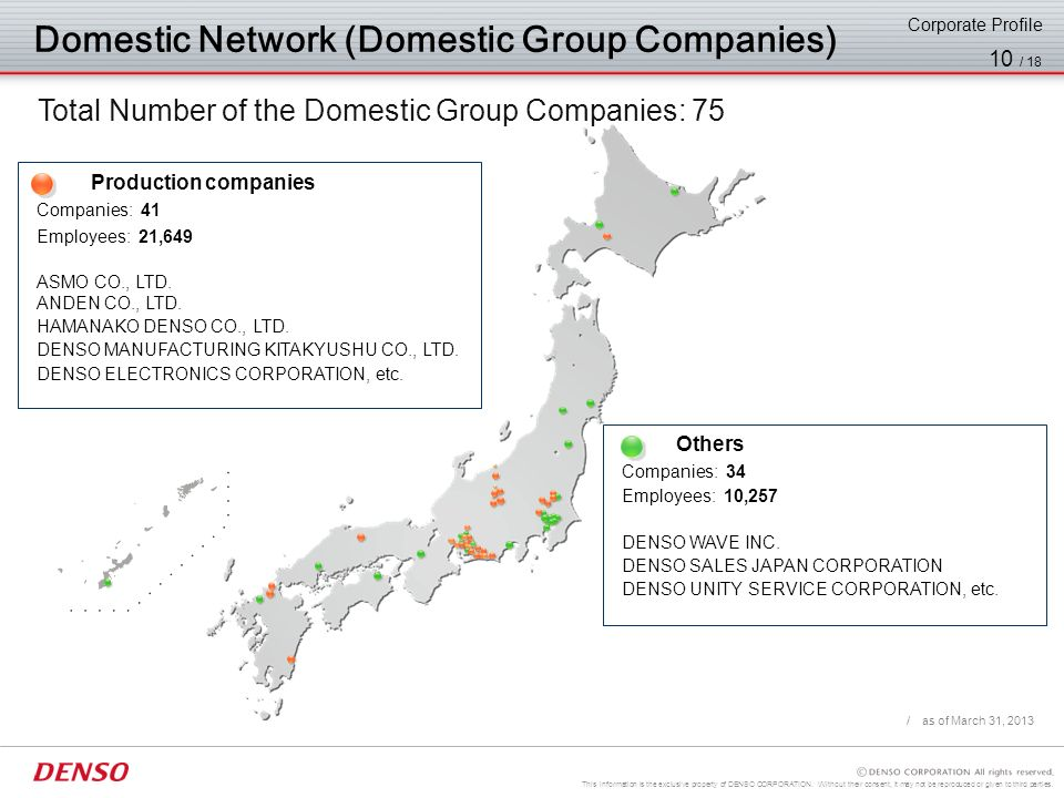 This information is the exclusive property of DENSO CORPORATION. Without their consent, it may not be reproduced or given to third parties. 9 / 18 Chu