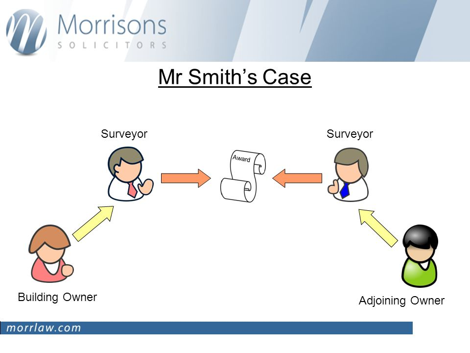 Mr Smiths Case Award Surveyor Building Owner Adjoining Owner