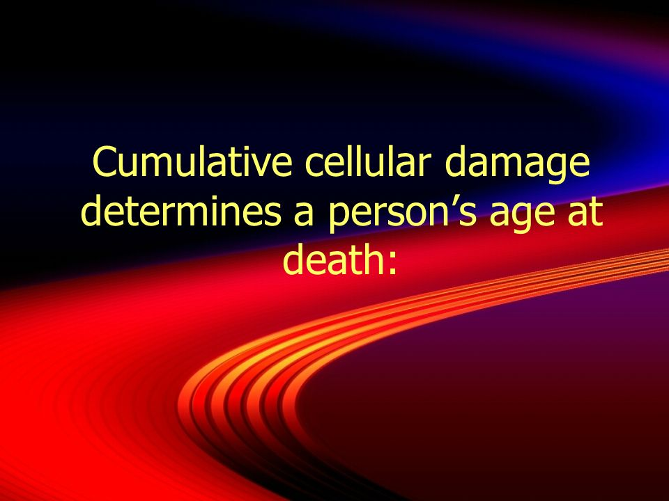 This began in one cell and was caused by free radicals that were unopposed
