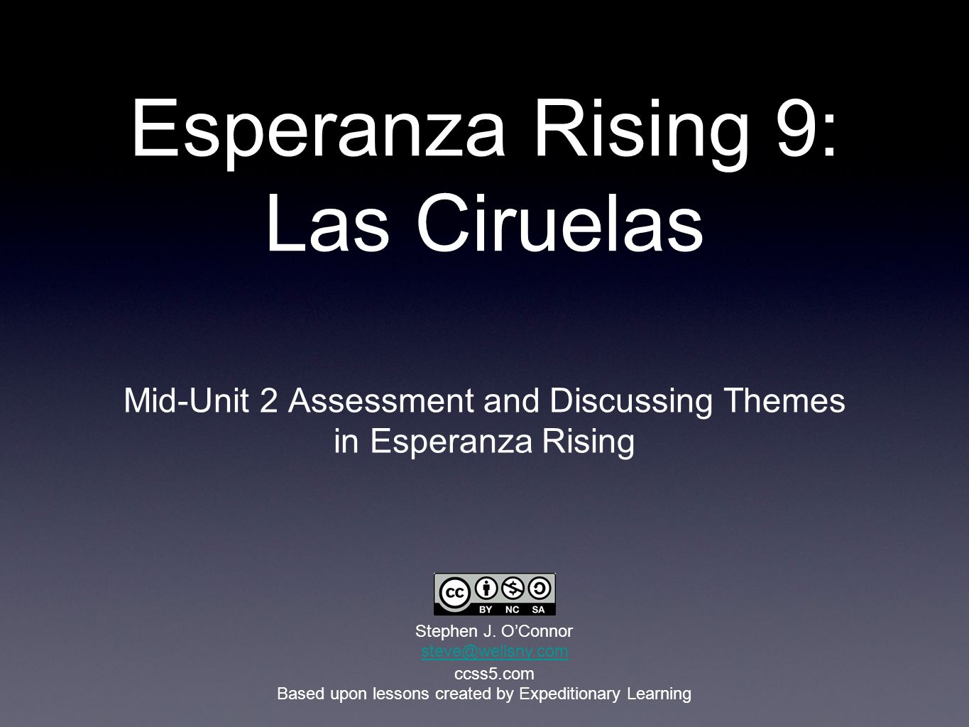 Esperanza Rising 9: Las Ciruelas Mid-Unit 2 Assessment and Discussing Themes in Esperanza Rising Based upon lessons created by Expeditionary Learning