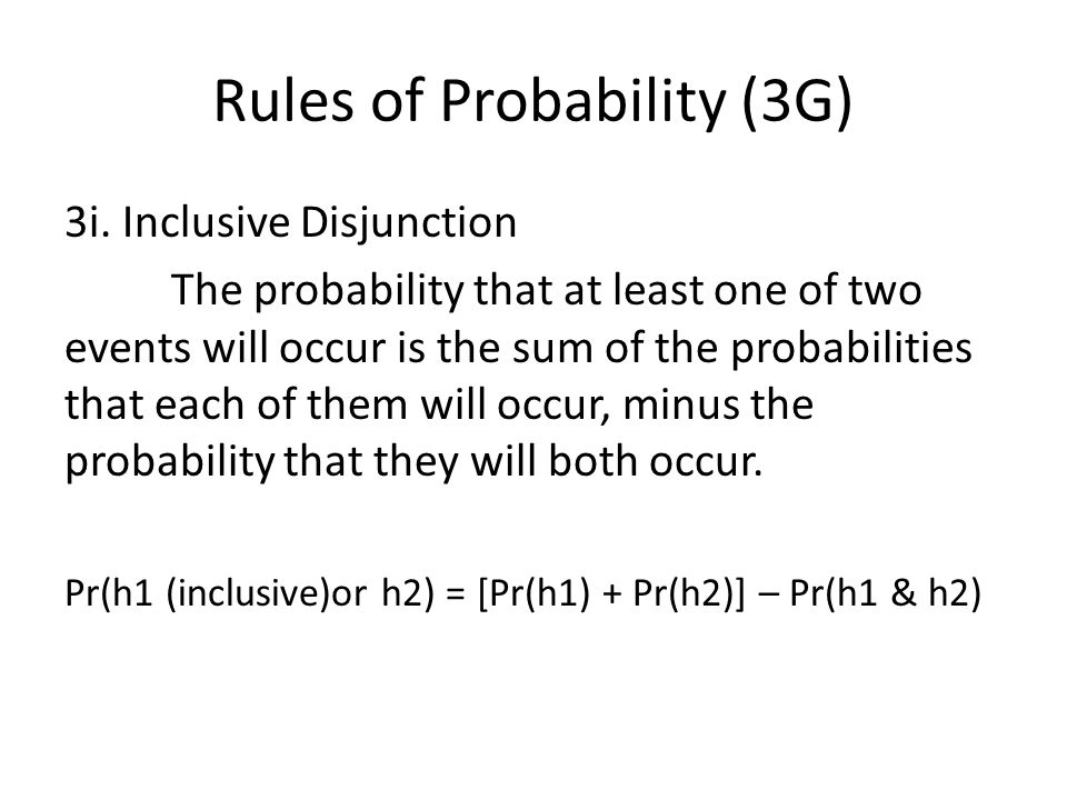 Rules of Probability (3G) 3i.